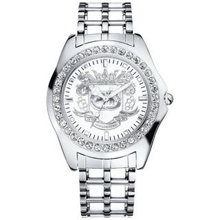 Marc Ecko Mens White Dial Stainless Steel Watch