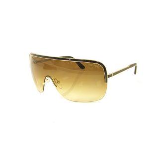 Tom Ford Gianna Black/ Gold Metal Shield Sunglasses