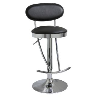Home Style Adjustable Height Chrome Black Retro Bar Stool