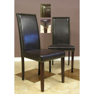 Warehouse of Tiffany Blazing Dark Brown Dining Chairs (Set of 8) Today