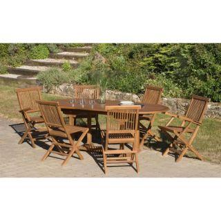 table, 4 chaises et 2 fauteuils teck WATERBASE   Achat / Vente SALON