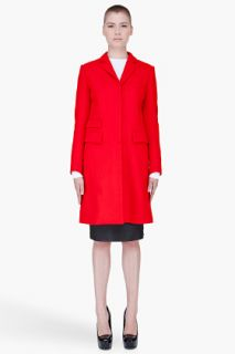 McQ Alexander McQueen Red Wool Cashmere Coat for women