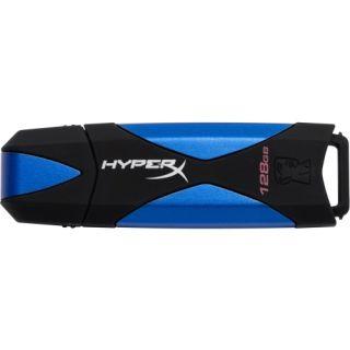 Kingston DataTraveler HyperX 128 GB USB 3.0 Flash Drive   Blue, Black
