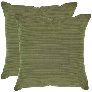 Poolside 20 inch Outdoor Green Pillows (Set of 2)