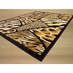 Hand carved Animal Print Leopard Rug (710 x 910)