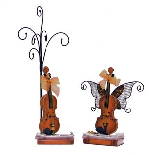 Donna Bella Designs Violin Jewelry Organizer Set