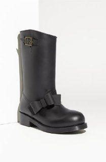 RED Valentino Bow Trim Waterproof Rain Boot Shoes