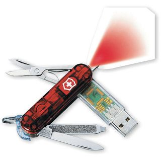 Swiss Army Ruby Translucent 128MB Knife