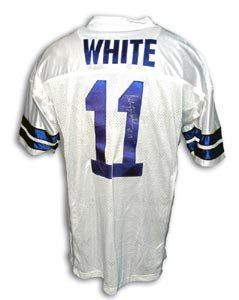Danny White Signed Dallas Cowboys White Throwback Jersey