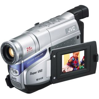 JVC GRSXM38US Compact VHS Silver Camcorder (Refurbished)