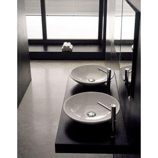 Scarabeo Round Cup White Bathroom Sink
