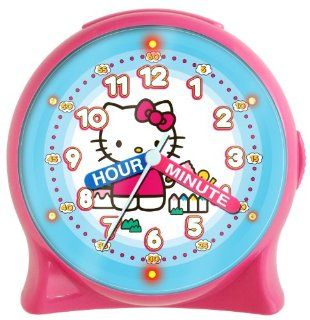 Hello Kitty HKC196 Time Teacher Light Up Desk Clock (Pink