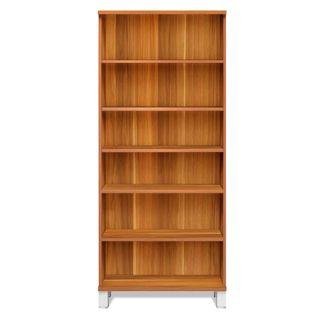 Tall Wood Five Shelf Bookcase