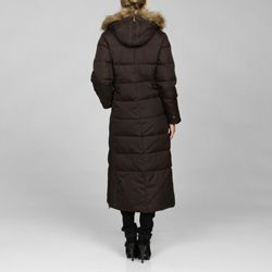 Tommy Hilfiger Womens Quilted Zip Front Long Coat