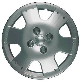 CCI IWC193 14S 14 Inch Clip On Silver Finish Hubcaps   Pack of 4