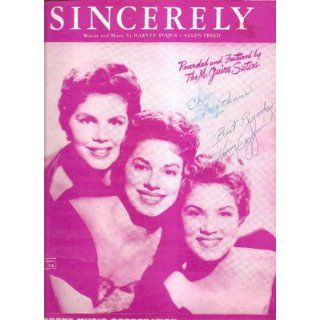 Sheet Music Sincerely The McGuire Sisters 197: Everything Else