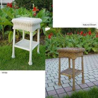 PVC/ 12 inch 120 Square Steel Outdoor Side Table