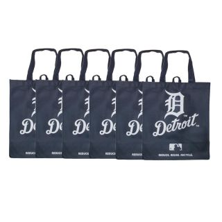 Detroit Tigers Reusable Bags (Pack of 6)
