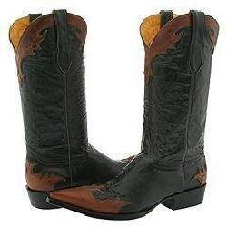 Old Gringo Villa Black/Rust/Green Boots