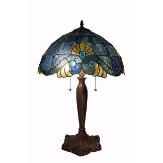 Tiffany Style Blue Geometric Symmetry Table Lamp Today $129.99