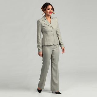 Anne Klein Womens Three button Pant Suit
