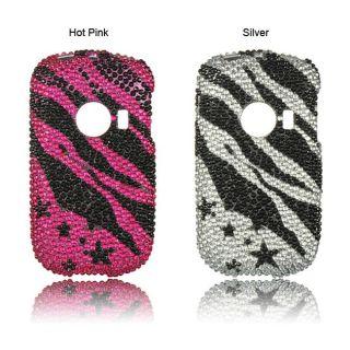 Luxmo Huawei M835 Zebra and Star Rhinestone Protector Case
