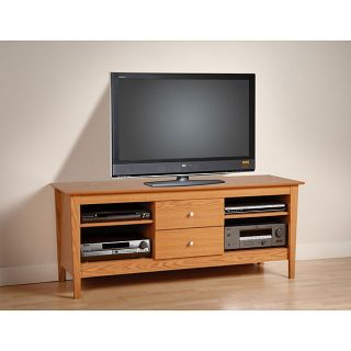 Woodhaven Oak 60 inch Flat Panel TV Console