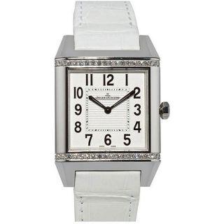 Jaeger LeCoultre Womens Reverso White Diamond Watch