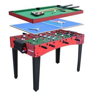 Ociotrend   MultiJeux 3 en 1  Billard, BabyFoot, Ping pong   Contient