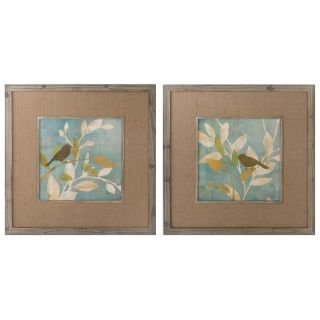 Turqouise Bird Silhouettes Framed Art, S/2 Today $231.99