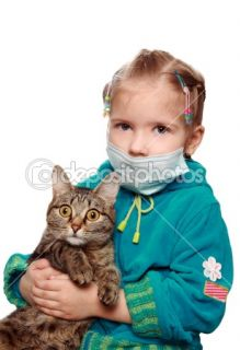 The sad ill girl with a cat  Stock Photo © Oleg Kruglov #1102192