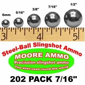 202 pack 7/16 Steel Ball slingshot ammo (2 1/2 lbs
