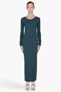T By Alexander Wang Green Jersey Knit Dress for women