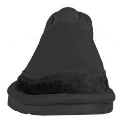 Lugz Mens Root Canvas Suede Black Slip on Shoes