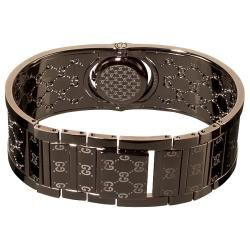 Gucci Womens Twirl Brown PVD Bangle Watch