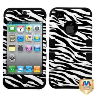 MYBAT Zebra Skin/Black TUFF Hybrid Case Cover for Apple® iPhone 4/ 4S