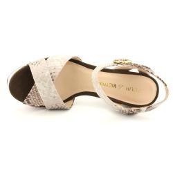 Pour La Victoire Womens Neysa Animal Print Sandals