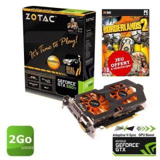 Zotac GTX660 Ti 2Go GDDR5 OC + Borderlands 2   Achat / Vente CARTE