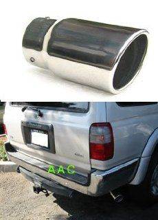 Stainless steel exhaust tip w/ mirror chrome finish   Toyota 4Runner