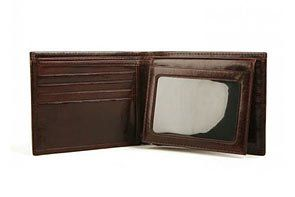 com Bosca Old Leather Dbl ID CC Wallet   Dark Brown 199 58 Clothing