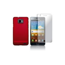 Samsung Galaxy S II Rubberized Hard Case, Screen Protector, AUX Cable