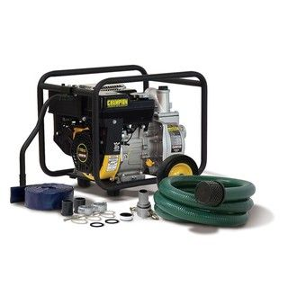 Champion 2 inch Trash and Water Transfer Pump with Hose Kit