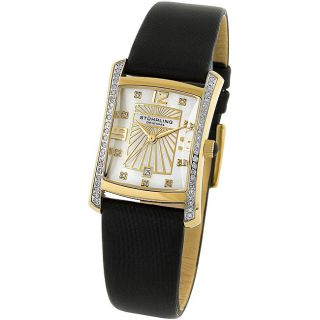 Stuhrling Original Womens Daisy Diamond Watch