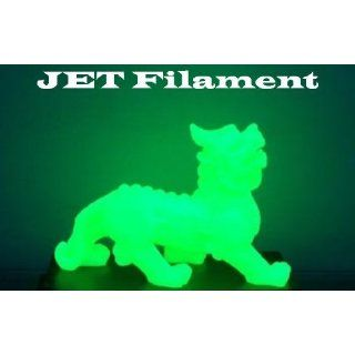 3mm ABS Green Glow in Dark Filament 1.0kg (2.205 lbs) on Spool for 3D