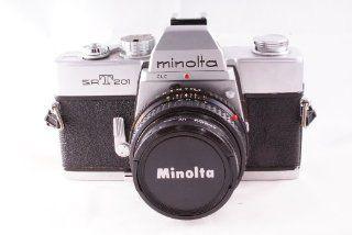 Minolta SRT 201 SLR 35mm Camera w/ Minolta MD Rokkor x