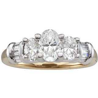 18k Gold and Platinum 1 1/2ct TDW Diamond Ring (H I, SI2 I1