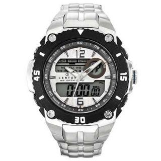 Certus Paris Mens Stainless Steel Black Digital Dial Watch