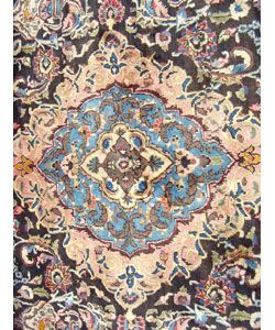 Hand knotted Kashmar Black/Blue Rug 910 x 136 (Iran)