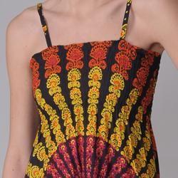 Funky People Juniors Retro Print Spaghetti Strap Dress