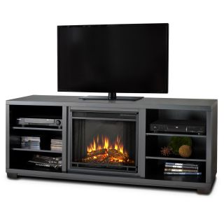 Real Flame Marco Black Mantel Electric Fireplace Today: $787.99